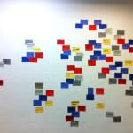 """""""Happening cartogràfic. Referents en xarxa. Mapa del disseny actual"""" EINA Espai Barra de Ferro"""